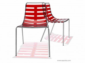 Chaise collectivité collection Body rouge