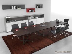 Table de réunion en cuir collection Ibis par Alea