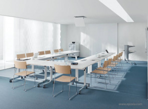 Ensemble de tables rabattables N-Table blanches