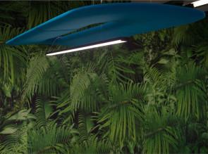 Panneau acoustique suspendu avec éclairage LED intégré Buzzizepp