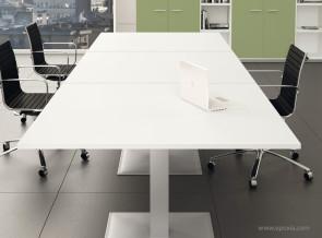 Table de réunion rectangulaire collection Alma
