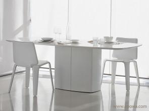 Table de réunion base centrale acier Aero