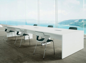 Table de conférence Spacia, avec extension.