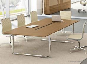 Table de réunion Loopy Noyer
