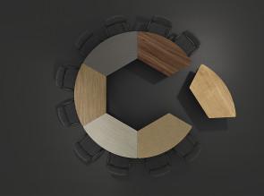 Collection de tables Tang'up, choix de finitions tendance