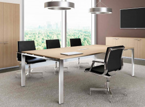Table de réunion chêne naturel Glider