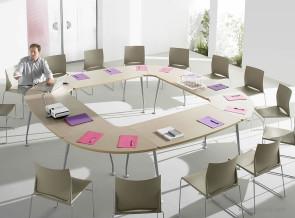 Table de réunion collection Ovacio chêne