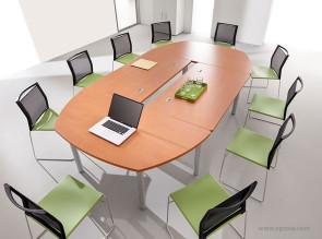 Table de réunion collection Tim pommier